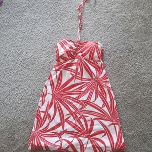 Tommy Bahama Palm Swim Dress Red Halter Cover-up